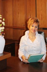 Unsere Rezeptionistin Frau Piskor